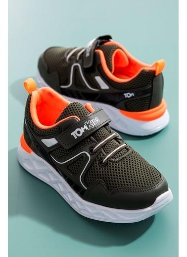 Tonny Black Haki Oranj Çocuk Spor Ayakkabı Tb3401-3 Haki